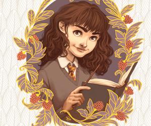 harry potter, grifindor, and hermione granger image