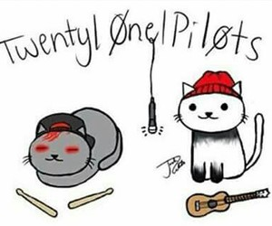 twenty one pilots, cat, and band image