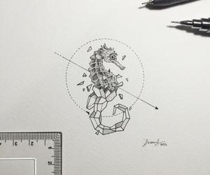 tattoo, geometric, and art image