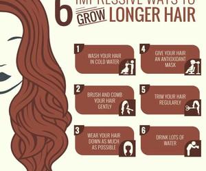 long hair, hair growth, and hair goals image