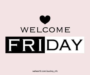 friday and welcome image