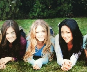 pretty little liars, shay mitchell, and lucy hale image