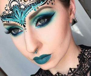 blue, make-up, and makeup image