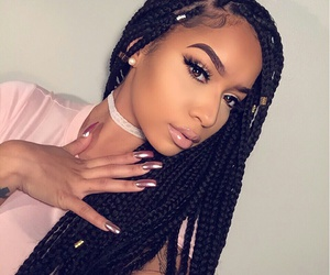 braid, beauty, and makeup image