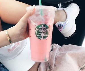 starbucks, adidas, and pink image