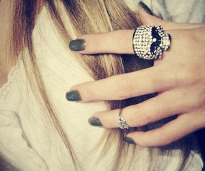 blonde, hair, and nails image