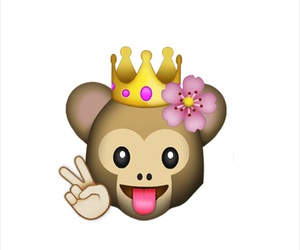cute emoji, emoji, and queen monkey image