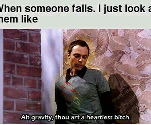 funny, gravity, and lol image