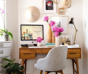 desk, home, and decoration image