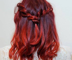 auburn, braid, and braided image