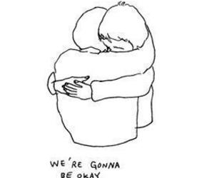 quotes, sad, and hug image