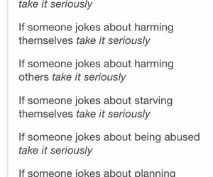 joke, suicide, and harming image