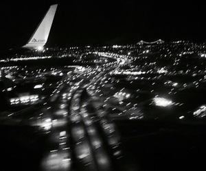 light, airplane, and city image