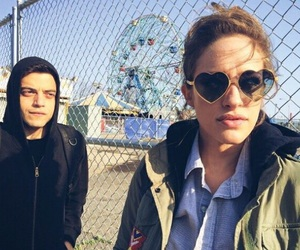 carly chaikin, rami malek, and mr. robot image