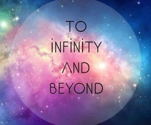 infinity, beyond, and galaxy image