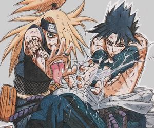naruto, deidara, and sasuke image