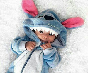 baby, stitch, and cute image
