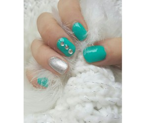 nails, tiffany, and nailart image