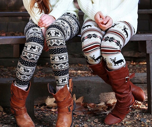 beautiful, leggins, and winter image