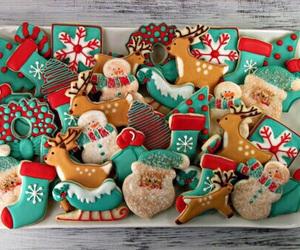 cakes, winter, and xmas image