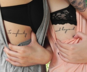 tattoo, friends, and infinity image