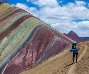 autumn, peru, and travel image