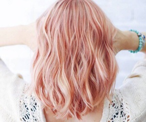 hair, girl, and rose gold image