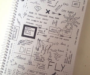 black and white, doodles, and food image