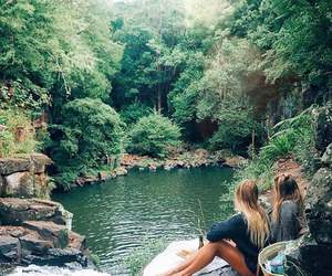 friends, nature, and travel image