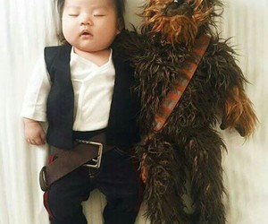 baby, han solo, and star wars image