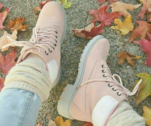 pink, autumn, and fall image