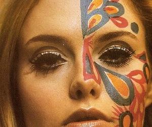 girl, 60s, and art image