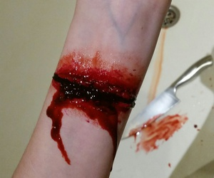 fake, wound, and hellowen image