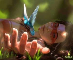art and hummingbird image