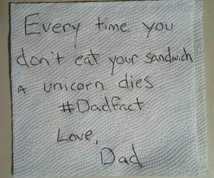 dad, sandwich, and unicorn image