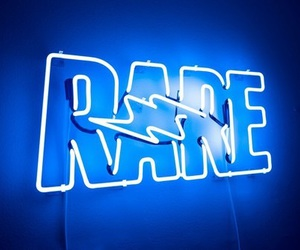 blue, neon, and rare image