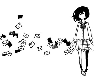 anime, girl, and letters image