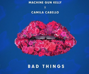 camila cabello, bad things, and music image