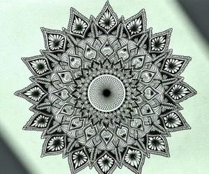 drawing, mandala, and 💎 image