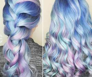 blue, curly, and colours image