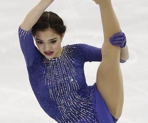 figure skating, flexibility, and ice skating image