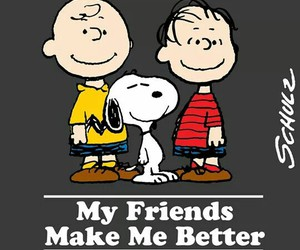 charlie brown, friendship, and Linus image