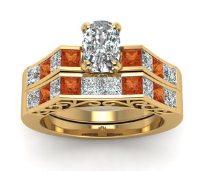 vintage rings, antique rings, and princess cut diamond image