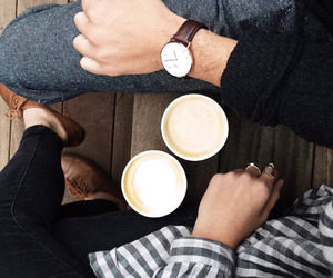 coffee, couple, and style image