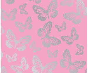 butterflies, pink, and wallpaper image
