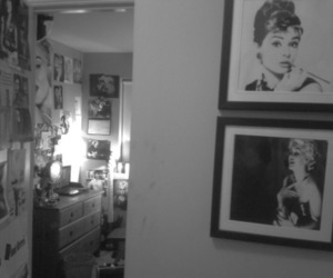 bathroom, black and white, and camera image