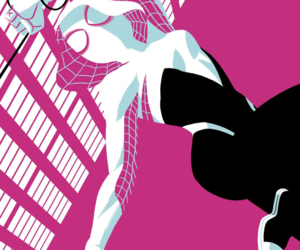 Marvel, pink, and spidergwen image
