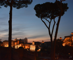city, night, and rome image