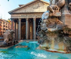 pantheon, italy, and rome image