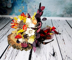 bouquet, rustic wedding, and boho bouquet image